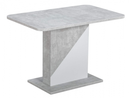 Стол Акцент бетон/белый