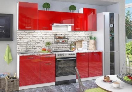 Кухонный гарнитур Фьюжн глянец красный глянец