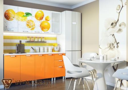 Кухонный гарнитур Апельсины с фотопечатью без глянца