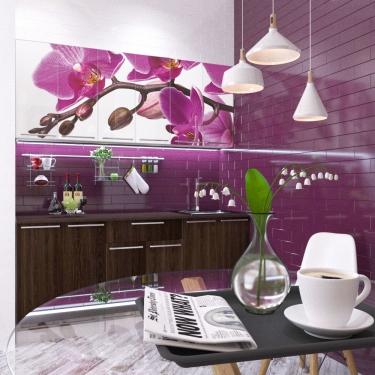 Кухонный гарнитур Орхидея принт фотопечать 1,8 м