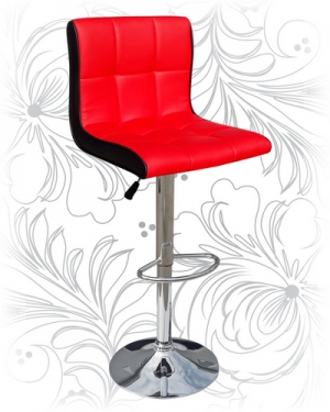 Барный стул 5006 красно-черный