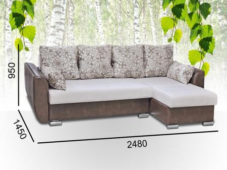 Диван-кровать угловой МДУ Виктория 5